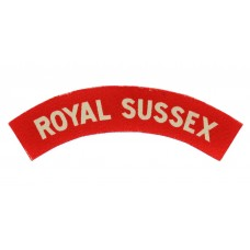 Royal Sussex Regiment (ROYAL SUSSEX) WW2 Printed Shoulder Title