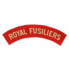 Royal Fusiliers (ROYAL FUSILIERS) WW2 Printed Shoulder Title