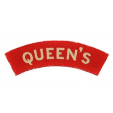 Queen's Royal West Surrey Regiment (Queen's) WW2 Printed Shoulder Title