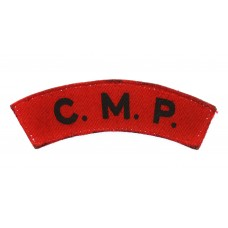 Corps of Military Police (C.M.P.) Printed Shoulder Title