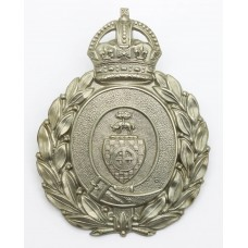Dewsbury Borough Police Wreath Helmet Plate - King's Crown