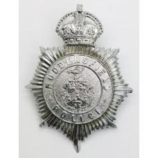 Huddersfield Police Helmet Plate - King's Crown