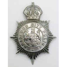 Bradford City Police Helmet Plate - King's Crown (Non Voided Cent