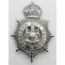 Bradford City Police Helmet Plate - King's Crown (Voided Centre)