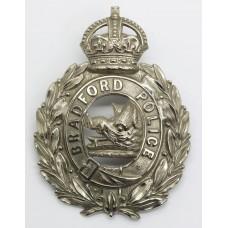Bradford City Police Wreath Helmet Plate - King's Crown