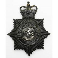Kent Constabulary Night Helmet Plate - Queen's Crown