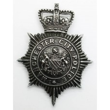 Manchester City Police Night Helmet Plate - Queen's Crown