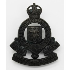 Royal Army Ordnance Corps Officer's Service Dress Cap Badge - King's Crown