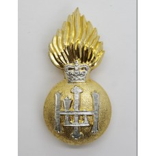 Royal Highland Fusiliers Anodised (Staybrite) Cap Badge - Queen's Crown