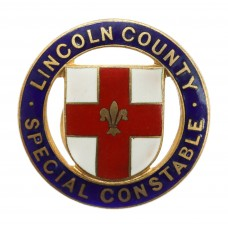Lincoln County Special Constable Enamelled Lapel Badge
