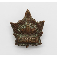 Canadian WW1 General Service Collar Badge (Caron Bros 1915)