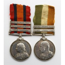 Queen's South Africa Medal (Clasps - Cape Colony, Paardeberg, Joh