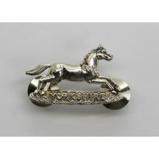 Prince of Wales Own Regiment of Yorkshire Chrome Collar Badge