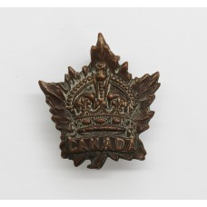 Canadian WW1 General Service Collar Badge (Birks 1915)
