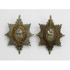 Pair of Worcestershire Regiment Collar Badges