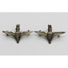 Pair of Parachute Regiment Collar Badges - King's Crown