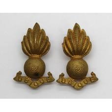 Pair of Royal Artillery Collar Badges