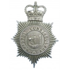 Bristol Constabulary Helmet Plate - Queen's Crown