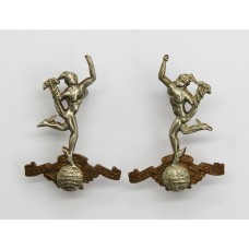 Pair of Royal Corps of Signals Collar Badges