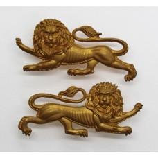 Pair of King's Own (Royal Lancaster) Regiment Collar Badges