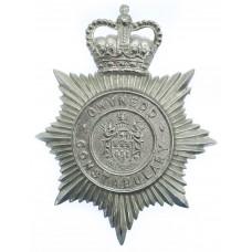 Gwynedd Constabulary Helmet Plate - Queen's Crown