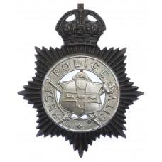 York City Police Night Helmet Plate - King's Crown