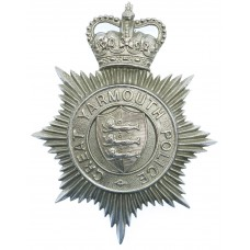 Great Yarmouth Police Helmet Plate - Queen's Crown