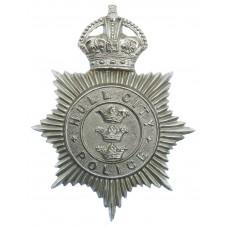 Hull City Police Helmet Plate - King's Crown