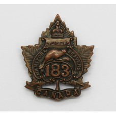 Canadian 183rd (Manitoba Beavers) Infantry Bn. C.E.F. WWI Officer