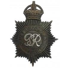 George VI Metropolitan Police Night Helmet Plate