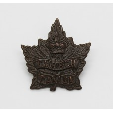 Canadian 2nd Mounted Rifles Battalion C.E.F. WWI Collar Badge