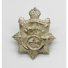 Canadian The Halifax Rifles Officer's Silver Plated Collar Badges - King's Crown