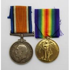 WW1 British War & Victory Medal Pair - Spr. W.F. Roberts, Roy