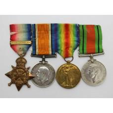 WW1 1914 Mons Star Trio and WW2 Defence Medal Group - Dvr. F.W. A