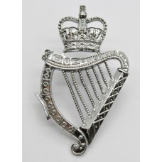 London Irish Pipers Chrome Caubeen Badge - Queen's Crown