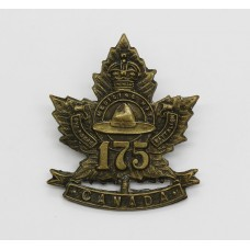 Canadian 175th (Medicine Hat) Infantry Bn. C.E.F. WW1 Collar Badge