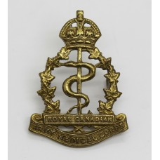 Royal Canadian Army Medical Corps Cap Badge - King's Crown