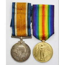 WW1 British War & Victory Medal Pair - Pte. G.H. Lamb, Lancas
