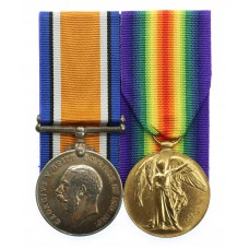 WW1 British War & Victory Medal Pair - J. Walton, Ord., Royal Navy