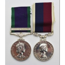 Campaign Service Medal (Clasp - South Arabia) and R.A.F. Long Service & Good Conduct Medal - Ch. Tech. F.E. Renouf, Royal Air Force