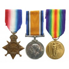 WW1 1914-15 Star Medal Trio - R.W. Lewis, Sig., Royal Navy