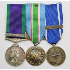 Campaign Service Medal (Clasp - Northern Ireland), UNIFIL Medal & NATO Former Yugoslavia Medal Grou of Three - Gnr. M.D. Hamill, Royal Artillery