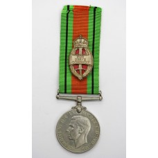 WW2 Defence Medal with King's Commendation for Brave Conduct