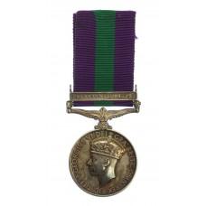 Scarce General Service Medal (Clasp - Palestine 1945-48) - R.H. P