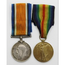WW1 British War & Victory Medal Pair - Pte. A. Sutton, 21st (Wool Textile Pioneers) Bn. West Yorkshire Regiment