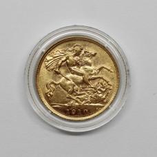 1910 Edward VII 22ct Gold Half Sovereign Coin