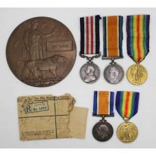 WW1 Military Medal, British War Medal, Victory Medal & Memori