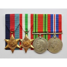 Unattributed WW2 Medal Group of Four - Court Mounted