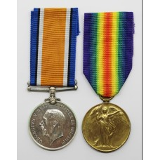 WW1 British War & Victory Medal Pair - Pte. J. Swanston, Army