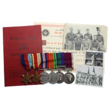 WW2, GSM (Clasp - Palestine 1945-48) and LS&GC Prisoner of War Medal Group of Six - Colour Sergeant P.H. Burton, South Wales Borderers, taken prisoner during the retreat from Tobruk and escaped from Italy during the Bridge at Allerona massacre in July 1944.
